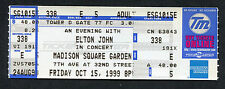 1999 Elton John unused full concert ticket Madison Square Garden New York