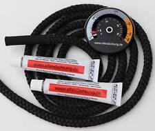 2m der 10mm Ofendichtung 2 Dichtschnurkleber + Thermometer f. Rauchrohr Ofenrohr