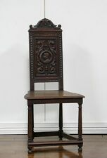 1107092-1 : ANTIQUE FRENCH CARVED RENAISSANCE SIDE CHAIR