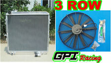 62MM 3 ROW aluminum radiator toyota HILUX LN106 LN111 Diesel 88-98 AT/MT + fan
