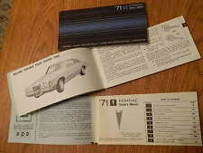 1971 PONTIAC GRAND PRIX Betriebshandbuch/Owner´s Manual,engl.Text,orig.GM !