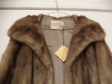 EXCELLENT COND NOT MUCH USED VINTAGE GENUINE MINK FUR SWING COAT MADE IN USA