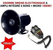 INCROYABLE HYPER PUISSANTE SIRENE 12V 100W 145db! 5 SONS + MEGAPHONE! GENIALE