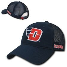 NCAA Dayton University Flyers Curved Bill Relaxed Mesh Trucker Caps Hats Navy