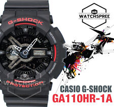 Casio G-Shock New Black and Red Series Special Color Model Watch GA110HR-1A
