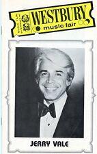 JERRY VALE Autographed Program