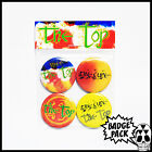 The Cure - The Top Button Badge Pack - 4 x 25mm Button Badges