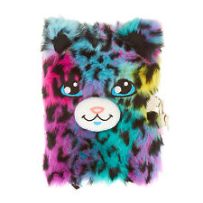 Claire's Girls and Womens Fuzzy Leopard Diary With Lock And Keys