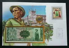 Paraguay Chago Soldier 1985 FDC (banknote coin cover) *rare