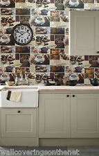 CHOCOLATE Themed, Washable Kitchen Wallpaper CHOCOLATE