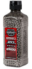 Valken Tactical .20g 0.20 White BBs BB's 2500 Bottle Airsoft Ammo 0.20g .20 gram