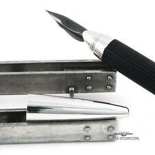 Jorg Hysek Black & Palladium Dipping Fountain Pen with Case & Jac Zagoory Stand
