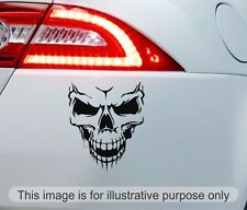 Smiling Skull vinyl car decal sticker bike bumper window JDM EDM VW VAG EURO DUB