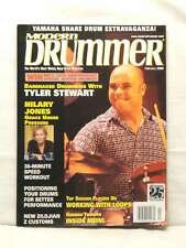 MODERN DRUMMER MAGAZINE TYLER STEWART HILARY JONES VERY RARE BACK ISSUE FEB