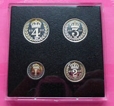 2000 ROYAL MINT MILLENNIUM MAUNDY SILVER PROOF 4 COIN SET RARE