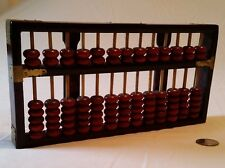Abacus mahogany stained wood with brass corners 91 rosewood beads made in China