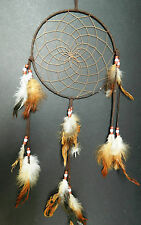 LARGE NEW BROWN TRADITIONAL APACHE INDIAN DREAM CATCHER DREAMCATCHER UK GIFT