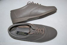 Womens Shoes GRAY LEATHER LACE UP CASUALS Cushioned Insole JOY SHOES Size 7 M