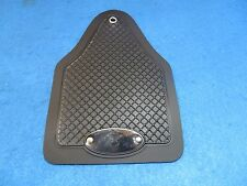 Vintage Retro Bicycle Fender Mud Flaps in Black with Logo - New
