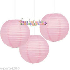 LIGHT PINK PAPER LANTERNS (3) ~ Wedding Baby Shower Party Supplies Decorations
