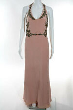 Marchesa Notte Pink Beaded Gilded Frame Gown Size 8 New $1195 10184559