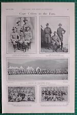 1900 BOER WAR ERA VOLUNTEER RIFLES CAPE TOWN HIGHLANDER PIPERS GARRION ARTILLERY