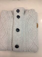 NWT. BARBOUR OATMEAL CABLE WOVEN WOOL SWEATER SIZE M.