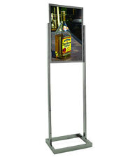 """FREE SHIPPING! 14"""" x 22"""" Heavy Duty Bulletin Poster Sign Holder Stand, Chrome"""