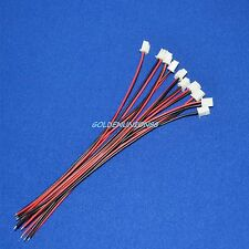 10PC JST XH 2pin connector with 150mm long UL1007 24AWG Wire for batterypack DIY