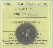 Canada 1965 25 Cents Test Token ICCS Certified VF-30 Charlton Nickel Reeded Rare