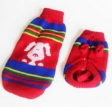 Christmas Pet Dog Warm Knit Clothes Puppy Cat Shirt Sweater Costume Coat Apparel