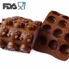 Cake Baking Pig Silicone Mold 15 Cavity Chocolate DIY Soap Cute Mould SCM01C-03