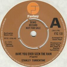 STANLEY TURRENTINE - HAVE YOU EVER SEEN THE RAIN, UK, Fantasy DEMO, FTC 13,  '75