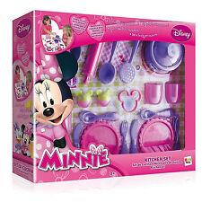 Disney Minnie Mouse Cuisine Set Cuisinière Dîner Enfants Jouet Neuf En Boîte