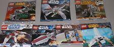 7x Lego Star Wars! 6 verschiedene Raumschiffe + Kampfläufer AT-DP OVP