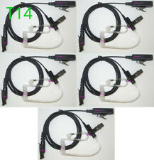 5x Black Surveillance Kit Accessories Headset For Motorola GP344 GP388 EX500