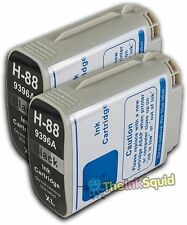 2 HP 88 Black XL Compatible Ink C9396A C9385AE HP88 Ink