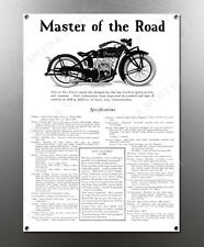 VINTAGE INDIAN MASTER OF THE ROAD IMAGE BANNER NOS IMAGE REPRODUCTION
