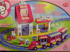 stazione hello kitty costruzioni train station building bricks blocks set 8652