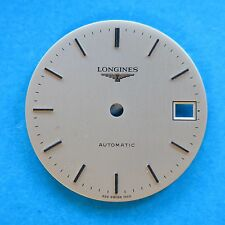 Original Longines 1990s Automatic Satin Gold Wristwatch Dial 27.5 mm NOS