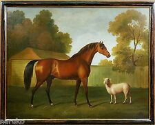 SALE GLORIOUS HORSE PAINTING LG 19thC  FINE&CLASSY YOU'LL NOT BELIEVE THE PRICE
