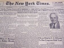 1950 MARCH 25 NEW YORK TIMES - FBI DATA ON TOP SPY TO SENATE INQUIRY - NT 4635