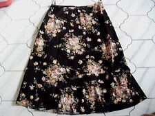 Ladies EAST fab brown & pink soft cord skirt size 10