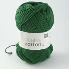 Rico Creative Cotton DK - 100% Cotton Knitting & Crochet Yarn - Fir Green 017