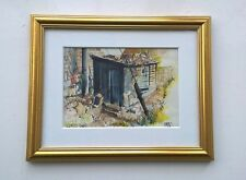 FRED WILLIAMS Small Original Watercolour Painting Harold's Shed Yorkshire