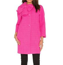 Kate Spade New York Dorothy Cotton Tweed Bow Coat Midnight Rose Pink 4