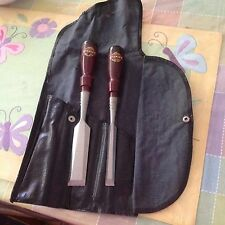 Stanley Tools Chisels In Original Sack (Rare)!