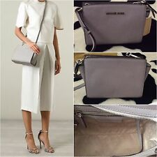 BNWT Michael Kors Grey Medium Messenger Crossbody bag Rrp £220