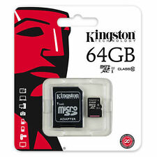 64GB MicroSD XC Class 10 Memory Card + Adapter For Go Pro Hero 4 4k HD Camcorder