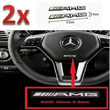 x 2 AMG Steering Wheel Speaker Sticker Badge Logo Emblem Mercedes Benz Smart